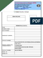 CV - Blank Format