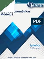 Syl Teoría Econométrica I