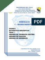 I-7 - Medidas de Tendencia Central, Posici+¦n y Dispersi+¦n