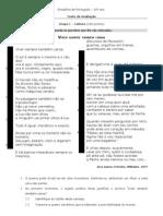 Teste Poesia século XX - 10º ano