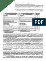 CUADRO DE DISTRIBUCIÓN DE HORAS DE CLASE 2019