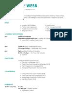 katherine webb resume