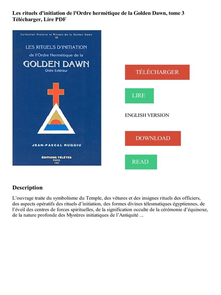 Les Rituels Magiques De La Golden Dawn Download