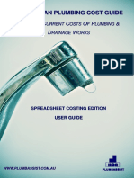 Australian Plumbing Cost Guide Spreadsheet Edition User Guide