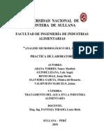 Informe de Tratamiento de Aguas - Analisis Microbiol.