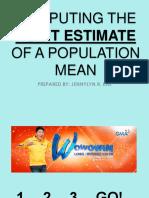 Computing the Point Estimate