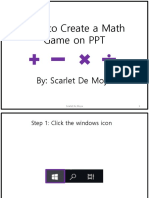how to create a math game using ppt