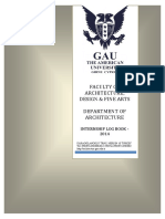 Internship Log Book 2014 Department Arch-Arc