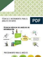 Técnicas e Instrumentos Para El Análisis de Datos