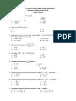 Soal Latihan Ujian Akhir Semester Gasal IX SMP Ke-3 Matematika