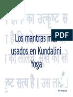 Mantras Más Usados en Kundalini Yoga