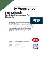 Qa Handbook Standards