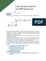 Configuración Del Protocolo de Enrutamiento RIP