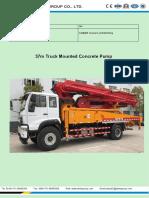 37m Sino Truck Mounted Concrete Pump Truck 20181112