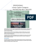 [PROFESIONAL] Jasa Penulisan Caption Instagram Purbalingga, WA/SMS/Telp 0811-2829-003
