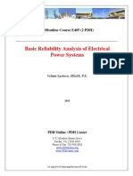 Basic Reliability Analysis of Electrical Power Systems