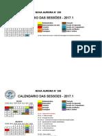 Calendário ARLS Nova Aurora 208