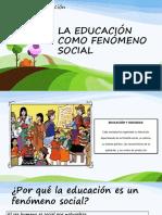 La Educación Como Fenómeno Social