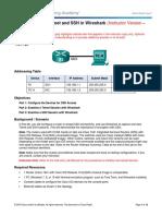 11.2.4.7 Lab - Examining Telnet and SSH in Wireshark - ILM