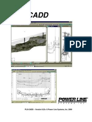Manual Plscadd | Línea de transmisión | Software