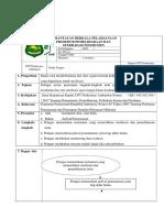 [PDF] Sop Pemantauan Berkala Pelaksanaan Prosedur Pemeliharaan Dan Sterilisasi Instrumen.docx