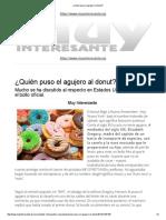 ¿Quién Puso El Agujero Al Donut