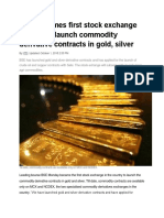 BSE becomes first stock exchange in India to launch commodity derivative contracts in gold.docx
