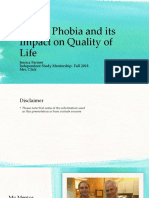 dental phobia and its impact on quality of life final presentation  1