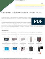 Cálculo y Diseño de Un Banco de Baterías Energía Solar Fotovoltaica TRITEC-In