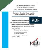 El Sistema de Información Gerencial y Sus Relación en El Proceso de La Toma Decisión