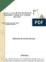 Presentacion Norma Tecnia Del Servicio de Seguridad y Salud Laboral Septiembre 2016
