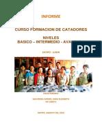 Inf. Capacitacion Catadores Cacao