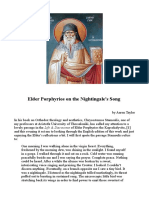 Elder Porphyrios on the Nightingale's Song - Aaaron Taylor
