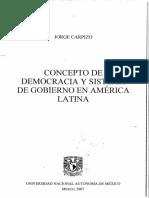 7. Concepto de Democracia y Sistema de Gobierno en America Latina