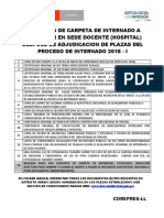 Carpeta Internado en Sedes Docentes Proceso Internado 2018 i