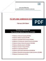 Admission Booklet cdac
