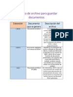 Formato de Archivo Para Guardar Documentos