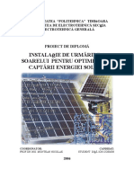 Solar Tracking System for Photo Voltaic Panels