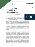 La Jornada_ Los Juárez, Madero y Huerta de Hoy