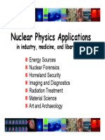Nuclear Physics Applications