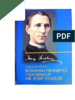 Dr. sc. Velimir BLAŽEVIĆ, Bosanski franjevci i nadbiskup dr. Josip Stadler