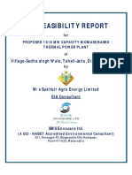 Feasibility Study of Biomass Power Plant