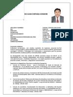 CV Juan Chipana Linea Base Actualizada 2018