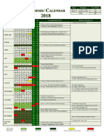 Academic Calendar 2018