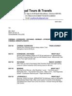 Kerala 4N-5D Itinerary