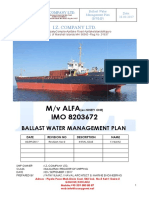 Ballast Water Management Plan- Mv ALFA