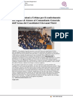 Grandi emozioni a Urbino per il conferimento del Sigillo di Ateneo al Generale Nistri - L'Altro Giornale.it, 30 novembre 2018