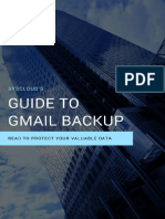 SysCloud's Guide to Gmail Backup