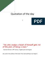 en102  quotation of the day 1 samuel johnson