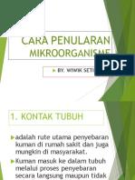3. Cara Penularan Mikroorganisme